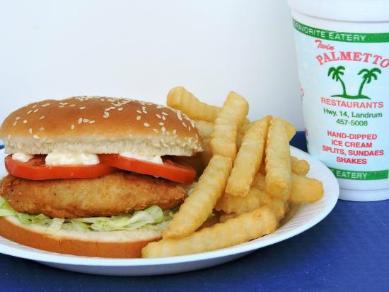Landrum, Южная Каролина: Crispy Chicken Sw combo