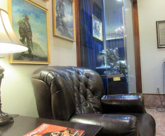 Comfortable Chair Lobby Area, Marines Memorial Club Hotel, San Francisco, Ca