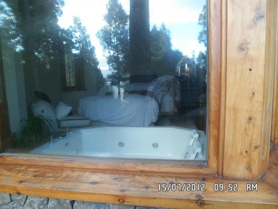Indias Blancas: Cabaña en el Jardín. Habitación vista desde el exterior