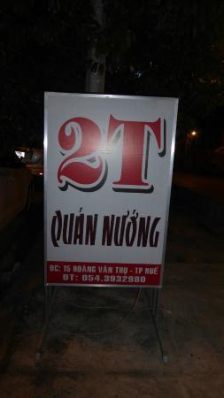 2T Quan Nuong : Werbeschild