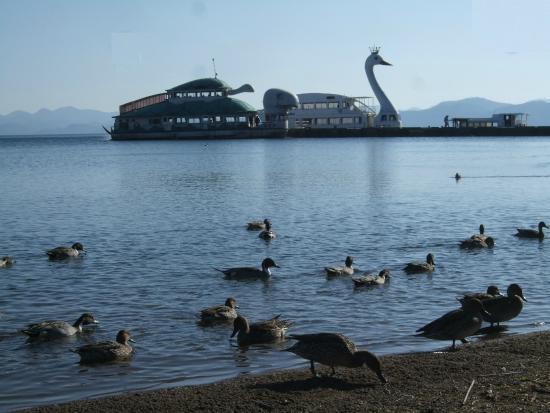 Lake Inawashiro: 遊覧船の船着き場もあります