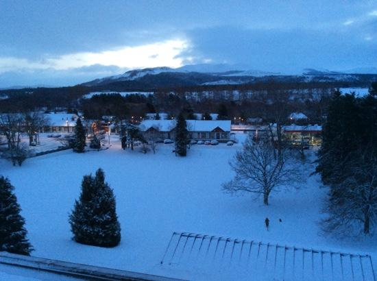 Strathspey Hotel: View from our window at the Strathspey.