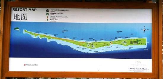 Kort Over Oen Picture Of Canareef Resort Maldives Herathera