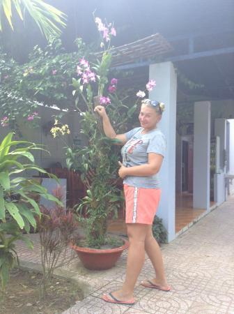 Truong Linh Phu Quoc Resort: Орхидеи у ресепа
