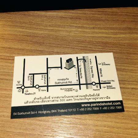 Parinda Hotel: Hotel Map & direction