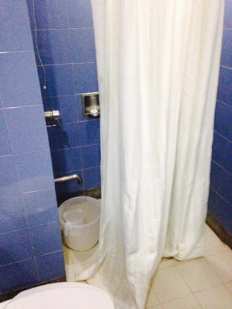 The Grand Bhagwati: Toilet not working but was given a bucket to flush the loo. Not high-end - when last did the own