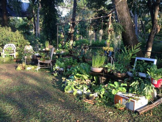 Amazing Sampran Riverside: Recycled Computer Garden Pots!