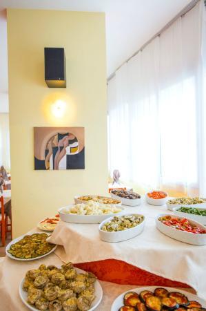 Hotel Levante: Buffet di verdure e antipasti