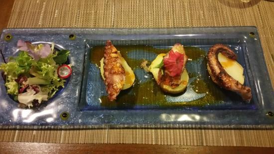 Bagua Lounge Bar & Restaurant: pulpo a la parrilla