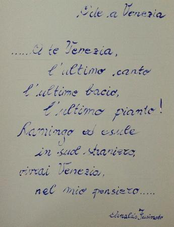 Residence Venice: nice writings on the wall just to remember