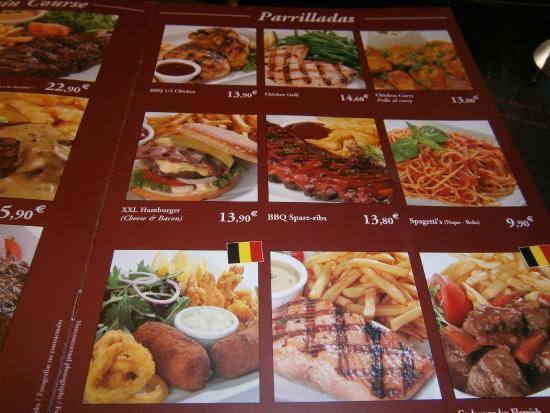 Brussels Grill : Menu card