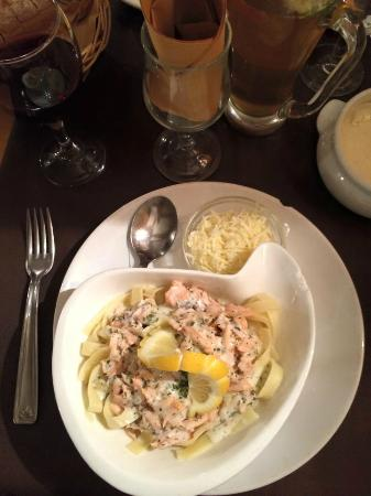 La Copa: salmon and freshly made pasta