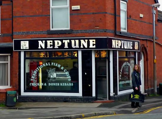 Κρου, UK: Neptune Fish & Chip Shop, Crewe