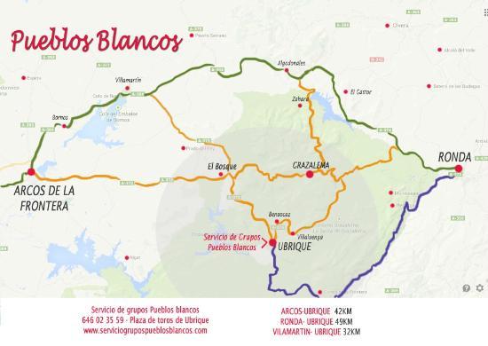 Mapa Pueblos Blancos Cadiz.Localizacion Servicio De Grupos Pueblos Blancos Picture Of