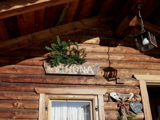 Baita Curona Hütte Seceda: Curona Sign