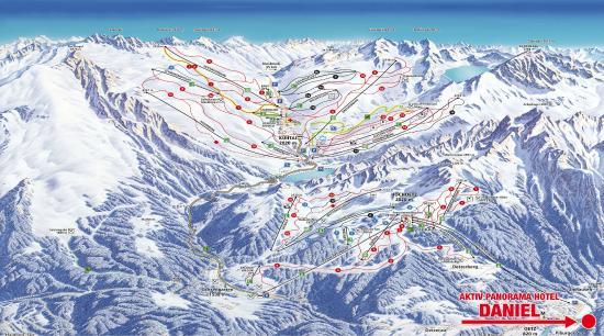 Sautens, Østerrike: Skigebietsplan