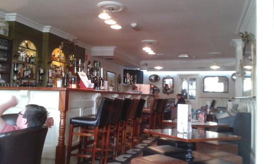 The Emmet Hotel: Part of the bar where we sat to eat