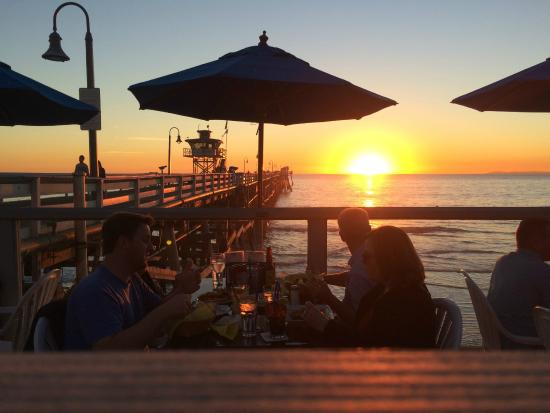 San Clemente, Californie : Sunset from The Fisherman's Bar