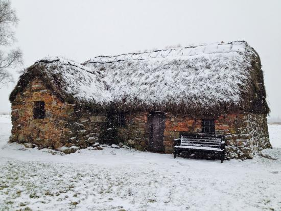 Old Leanach cottage in snow - Picture of Culloden Moor, Scottish Highlands  - Tripadvisor