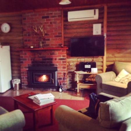 Southern Grampians Cottages : Log fire