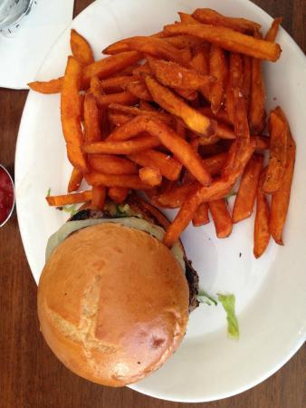 CIRCA at Foggy Bottom: Burger with sweet potato fries