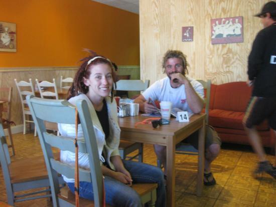 Interesting couple we met at Overseas Kitchen