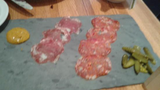 Garces Trading Company: This was the meat tray appetizer with mustard and pickles.