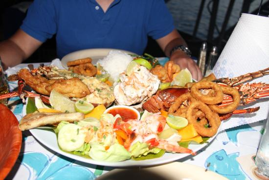 The Waterfront Bar and Grill: Seafood platter for 2