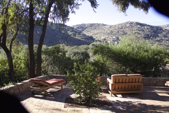 Rancho La Puerta Spa: Relaxing terrace of two bedroom villa