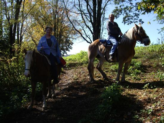 Wyndham Resort at Fairfield Sapphire Valley : Horseback riding up through the vineyards