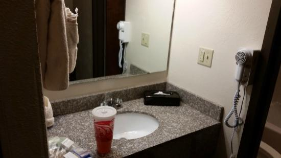 BEST WESTERN Tower West Lodge: Hair dryer, sink bathroom.