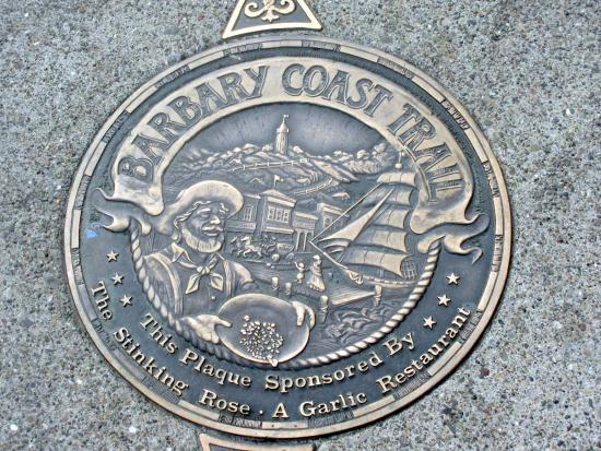 Barbary Coast Trail, San Francisco, Ca  (Trail Marker in North Beach Area)