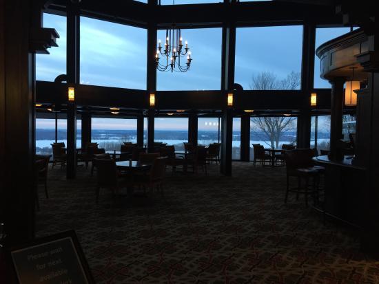 Shanty Creek Resort Summit Village Lobby At Dusk