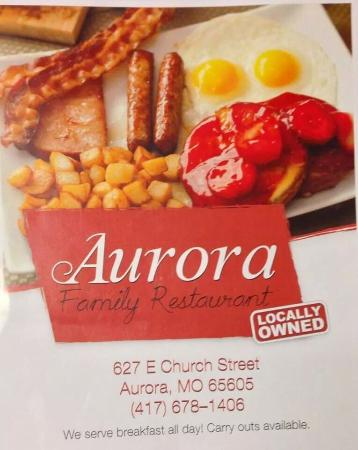 Aurora Family Restaurant : Menu Cover
