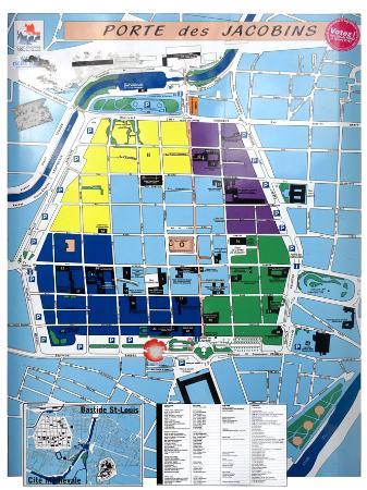 La Bastide Saint Louis: plan de la Bastide St. Louis