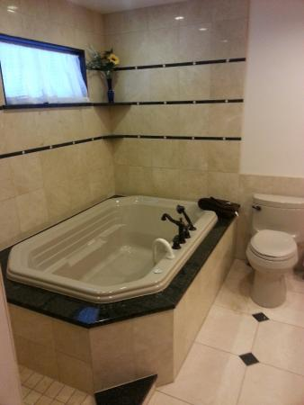 Adlersheim Wilderness Lodge: Super size tub for two