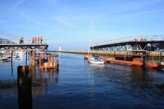 Trondheim, Norvegia: Den nye svingbrua på Skansen