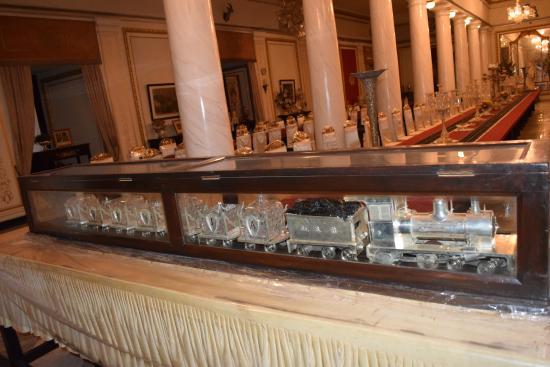 Jai Vilas Palace Museum Silver Train On The Dining Table
