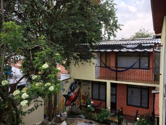 Niza Norte Apartahotel: Vista desde uno de los cuartos.