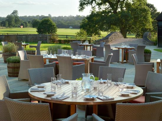 The Barn at Coworth Park: The Barn_Terrace view