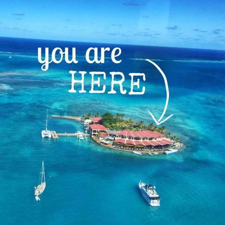 Saba Rock Resort: In the blue