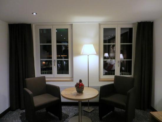 Restaurant Bellevue-Pinte: Neu saniertes Hotelzimmer