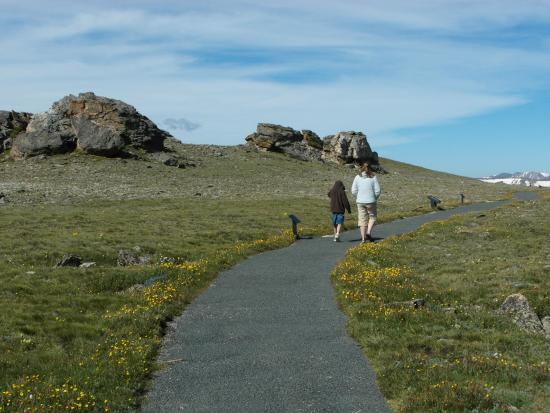 Walking back down the Tundra Communities Trail