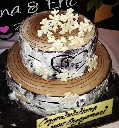 Engagement Party Cake Images : Our Engagement Party Cake - Winter Woods Theme. - Picture ...