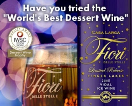 Casa Larga Vineyards: Casa Larga's Fiori Vidal Ice Wine Takes Home the Gold!