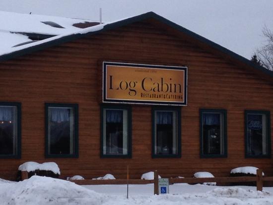 Log Cabin Family Restaurant: Log Cabin - front sign