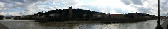 Hotel Privilege: View from front of hotel...on the Arno