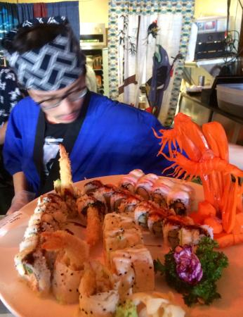 Perryville, MD: Culinary artist at work. Look at the detail in the carrot-shrimp… Not only delicious, but inspir