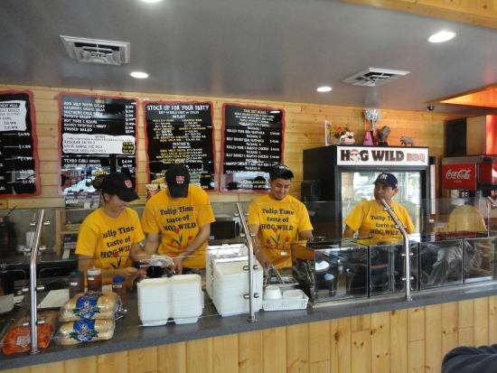 Hog Wild BBQ: Our terrific staff