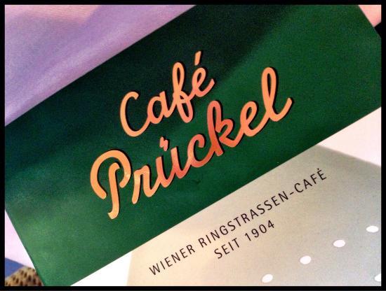 Cafe Prueckel : Speisekarte